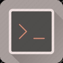 code, coding, console, html, programming, terminal, web icon