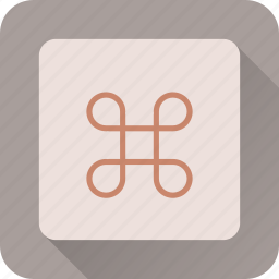 apple, cmd, command, key, keyboard icon