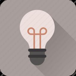 bulb, electric, energy, idea, light, power icon