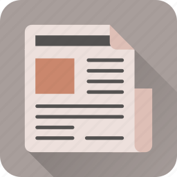 document, folded, news, newspaper, old, page icon