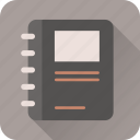 book, document, notebook, notes, paper, text, write icon