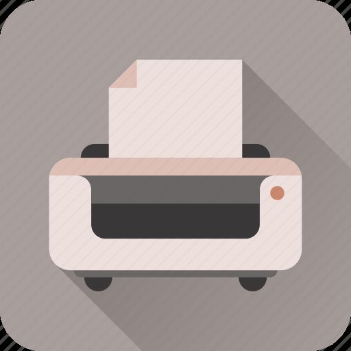 fax, paper, print, printer icon