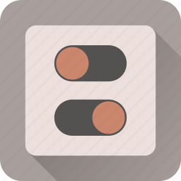 off, on, power, switch, turn icon
