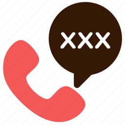 chat, erotic, sex phone, sexual, sexual harassment, speech, talk icon