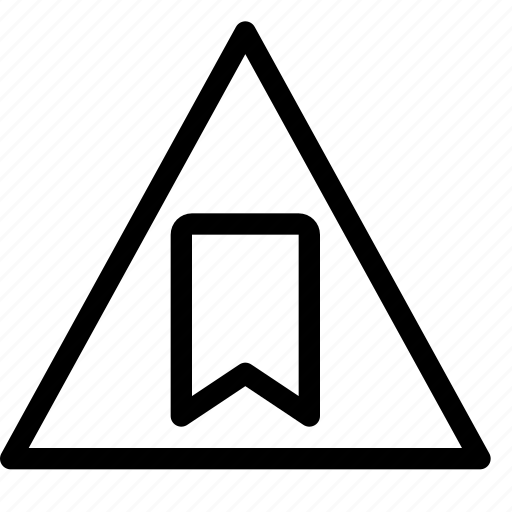 bookmark, error, placeholder, triangle, warning icon