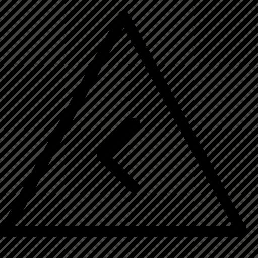 chevron, left, triangle icon