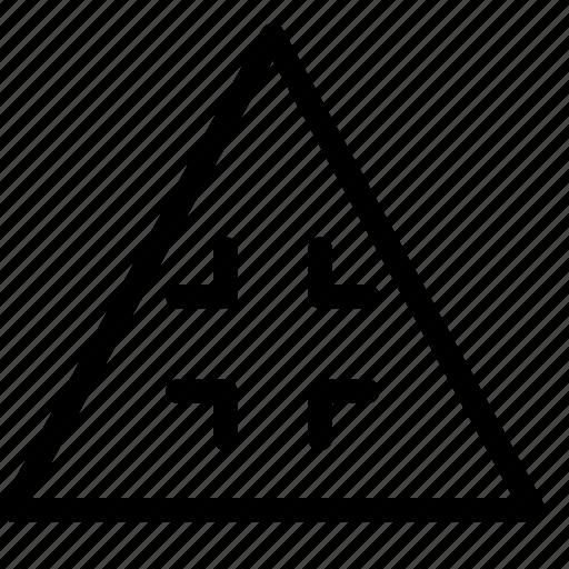 collapse, triangle icon