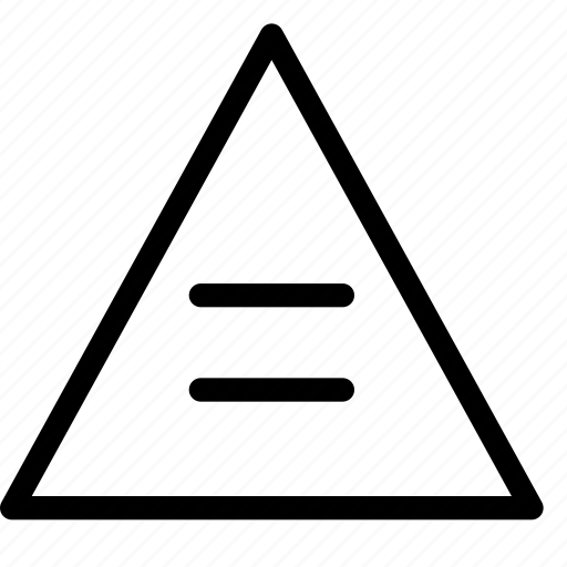 equal, triangle icon