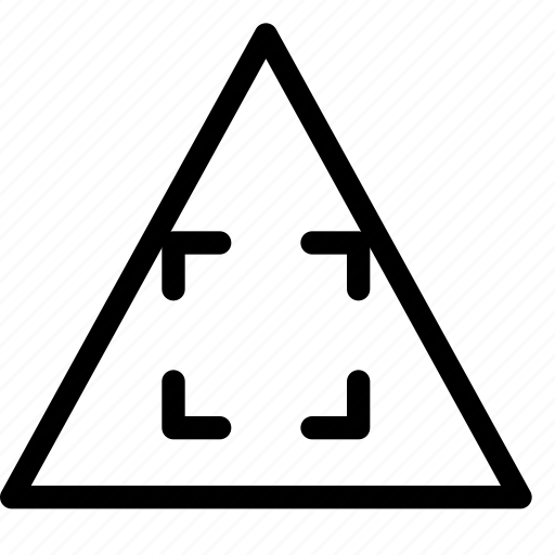 expand, triangle icon