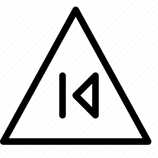 back, error, previous, skip, triangle, warning icon