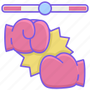 esports, fighting, gloves icon