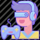 esports, gamer, interactive icon