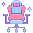 chair, esports, gaming icon
