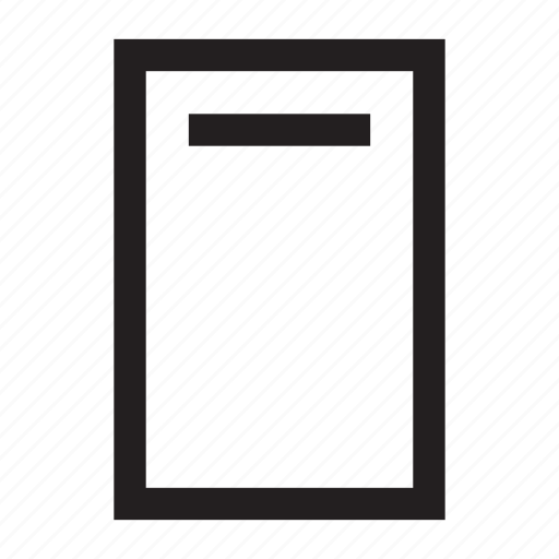 cover, document, subject, title, what icon