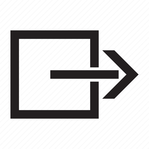 exit, logout, off, out, sign out icon