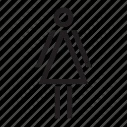 female, person, toilet, wc, woman icon