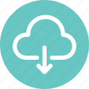 cloud, document, download, file icon