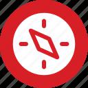 direction, gps, kompass, navigation, quibla icon