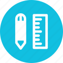 measure, measurement, pen, ruler icon