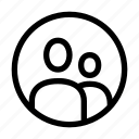 account, avatar, group, human, man, people, team icon