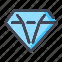 diamond, gem, jewelry, premium, vip icon