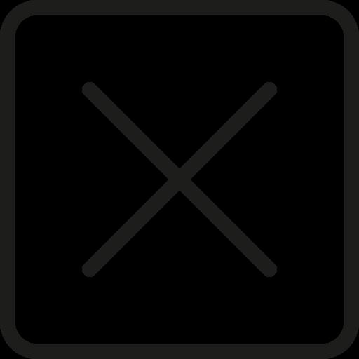 cancel, close, minus, remove, trash icon