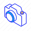 camera, essential, isometric, photo, photograph icon