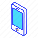 call, handphone, isometric, mobile, phone icon