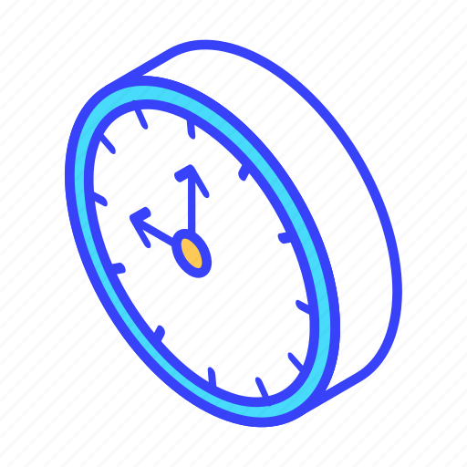 clock, date, isometric, time icon