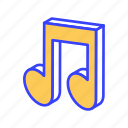 isometric, music, note, quaver, song, sound icon