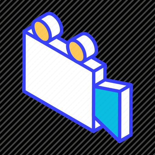 camera, isometric, media, movie, video icon