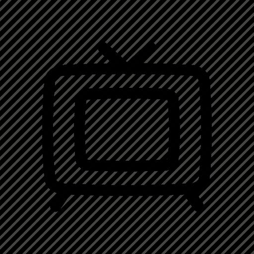 old, television, tv, vintage icon