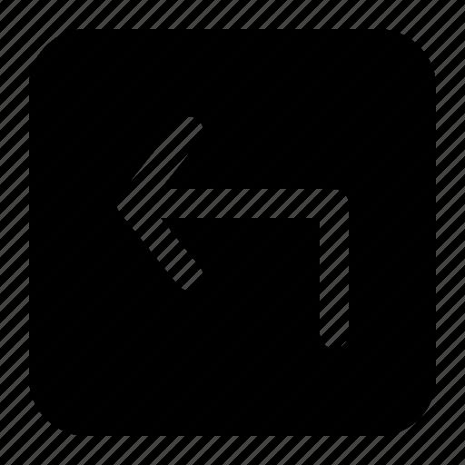 arrow, back, left, move, previous icon