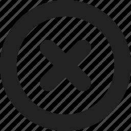 cancel, delete, round icon
