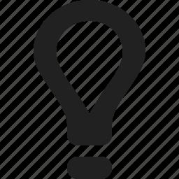 idea, light, lightbulb, luminosity icon