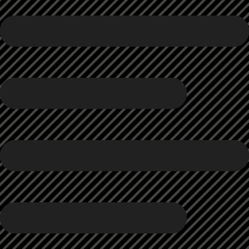 align, list, text icon