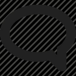 bubble, dialog, speech icon