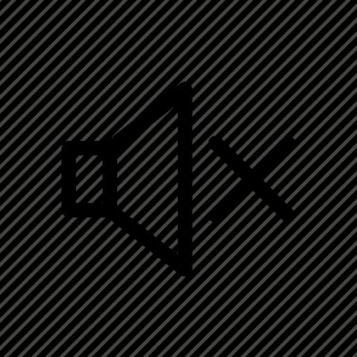 audio, mute, sign, sound, volume icon