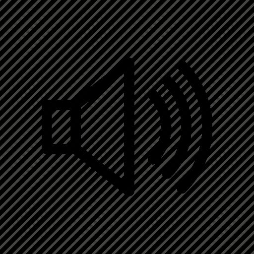 audio, sound, speaker, speech, voice icon