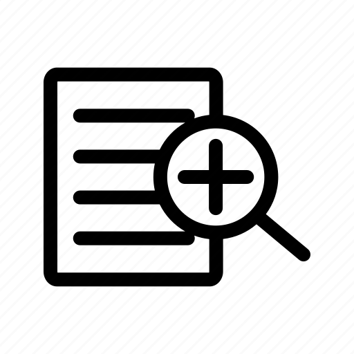 glass, in, loupe, magnify, tool, zoom, zoom in icon