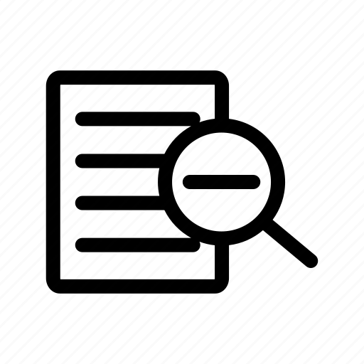 glass, loupe, magnify, out, tool, zoom, zoom out icon