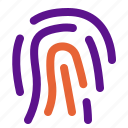 essential, fingerprint, interface icon