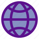 essential, globe, interface icon