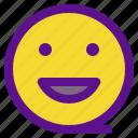 essential, interface, laugh icon