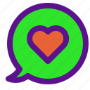 chat, essential, interface, love icon