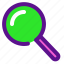 essential, interface, magnify icon