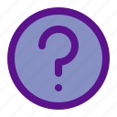 essential, interface, question icon