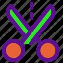 essential, interface, scissors icon