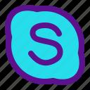 essential, interface, skype icon
