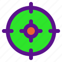 essential, interface, target icon